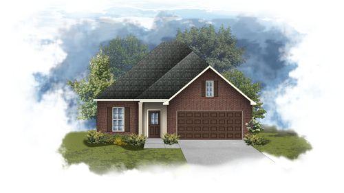 Dogwood III A - Front Elevation - DSLD Homes