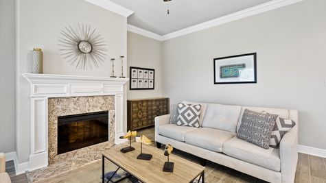 Living Room with Decor - Orleans Run - DSLD Homes Lake Charles