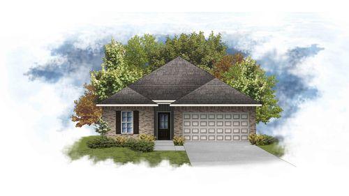 Preston IV G - Front Elevation - DSLD Homes
