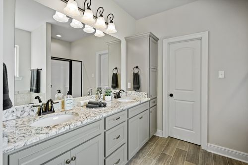 Cypresswood Village - Model Home Master Bathroom- DSLD Homes - Solace II A - Orange, TX