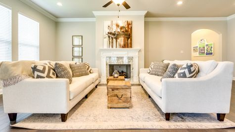 Caro Estates at Blue Bayou - Sycamore II A Open Living Room Area Photo - DSLD Homes - Houma, LA