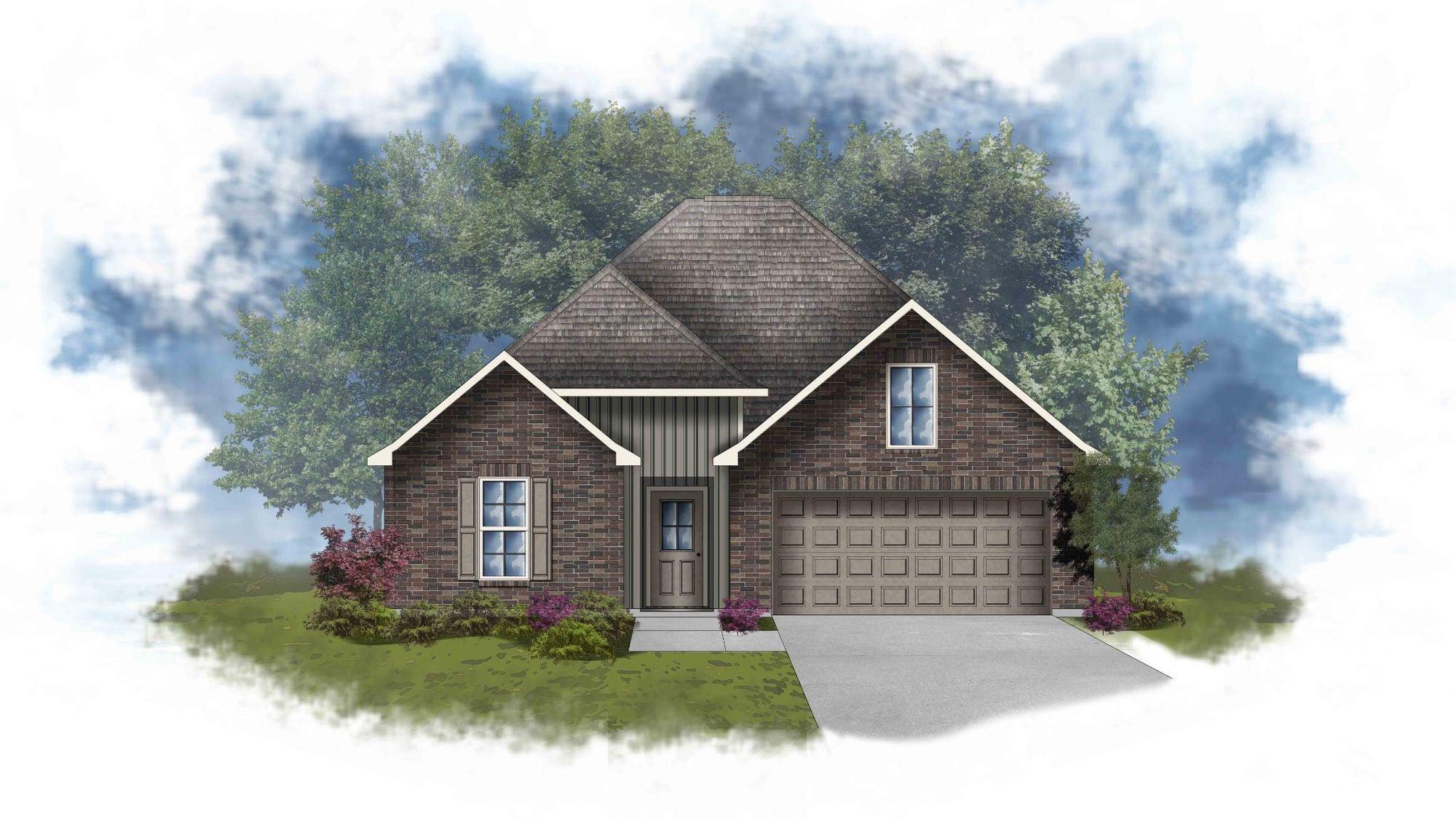 Liberty IV H - Front Elevation - DSLD Homes