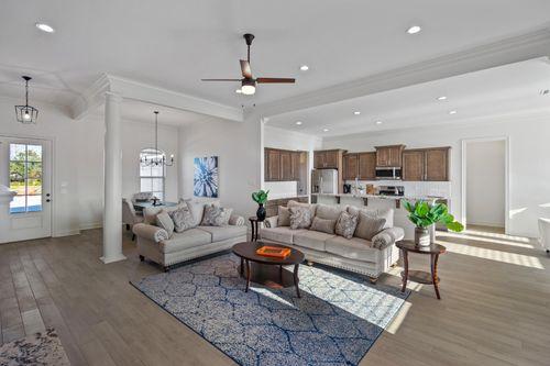 Cypress Park - Model Home Living Room - Claudet II A - Belle Chasse, LA