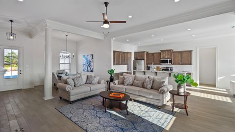 Cypress Park Model Home Living Room - Belle Chasse - DSLD Homes