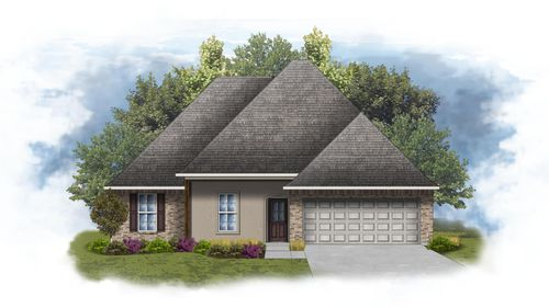 Rochelle IV A - Front Elevation - DSLD Homes
