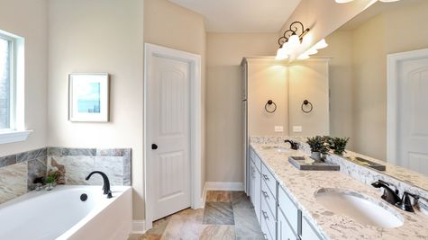 The Waters Model Home Professional Pictures - Master Bathroom  - DSLD Homes