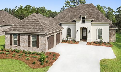 The Waters - Model Home Exterior - DSLD Homes - Renoir III B - Gulf Breeze, FL