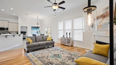 Fairview Gardens Model Home Living Room - DSLD Homes- Zachary, LA