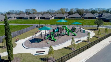 Paige Place Aerial View - DSLD Homes - Community Playground - Broussard, LA