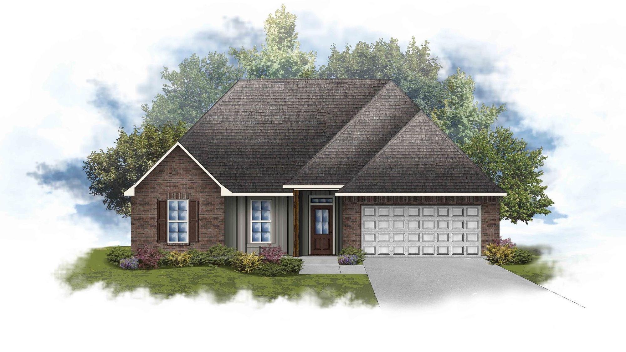 Lamar IV A Open Floorplan Elevation Image - DSLD Homes
