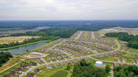 Arbor Walk Community Aerial View - New Construction Homes- DSLD Homes-  Denham Springs, Louisiana
