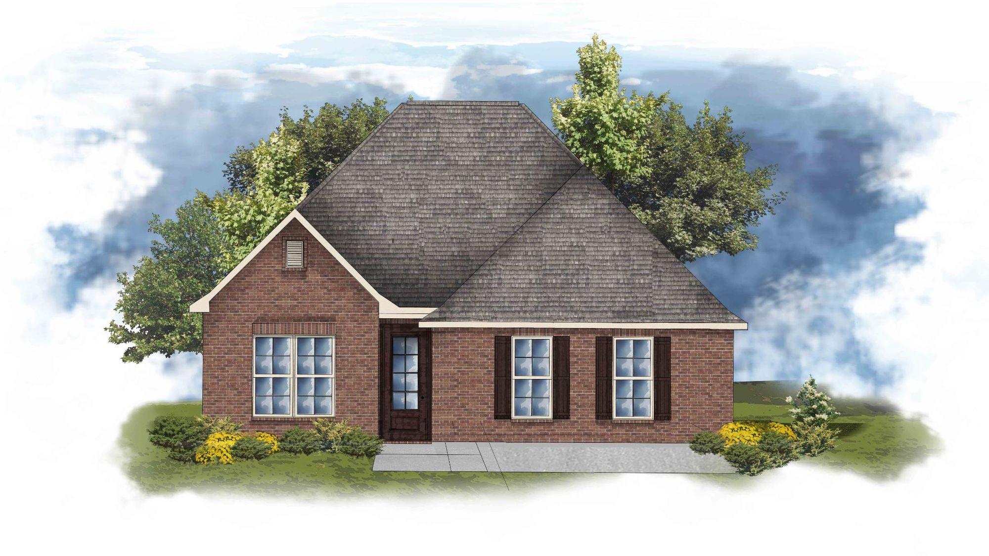DSLD Homes - Degas II B Open Floor-Plan Elevation Image