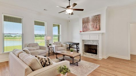 Living Room - The Reserve at Conway Community - DSLD Homes - Baton Rouge
