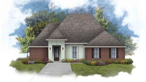 Claudet III G - Front Elevation - DSLD Homes