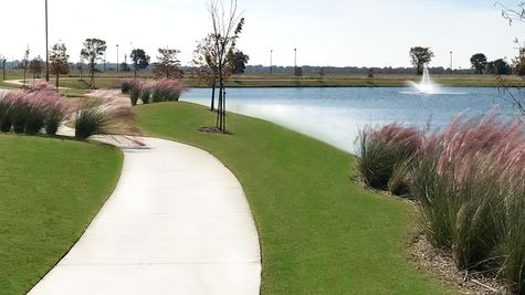 Community Pond - DSLD Homes - The Village at Morganfield in Lake Charles