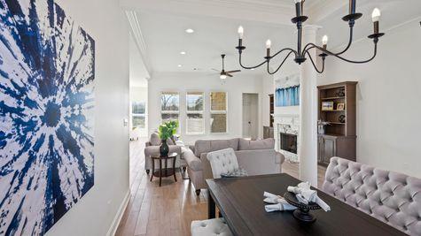 Cypress Park Model Home Dining Room - Belle Chasse - DSLD Homes