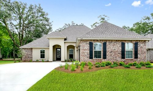 Sawyers Ridge - Model Home Exterior - DSLD Homes - Chardin II C - Cantonment, FL