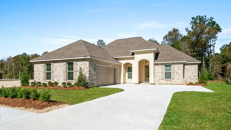 DSLD Homes - Ketty II B Open Floorplan - Exterior Image - Coburn Lakes -  Hammond, LA
