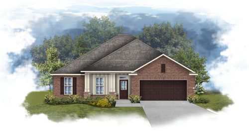 Rodessa III A - Front Elevation - DSLD Homes