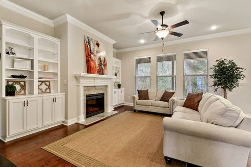 Churchill - Model Home Living Room - DSLD Homes - Hutchinson II C - Spanish Fort, AL