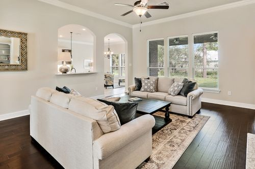 The Waters - Model Home Living Room - DSLD Homes - Renoir III B - Gulf Breeze, FL