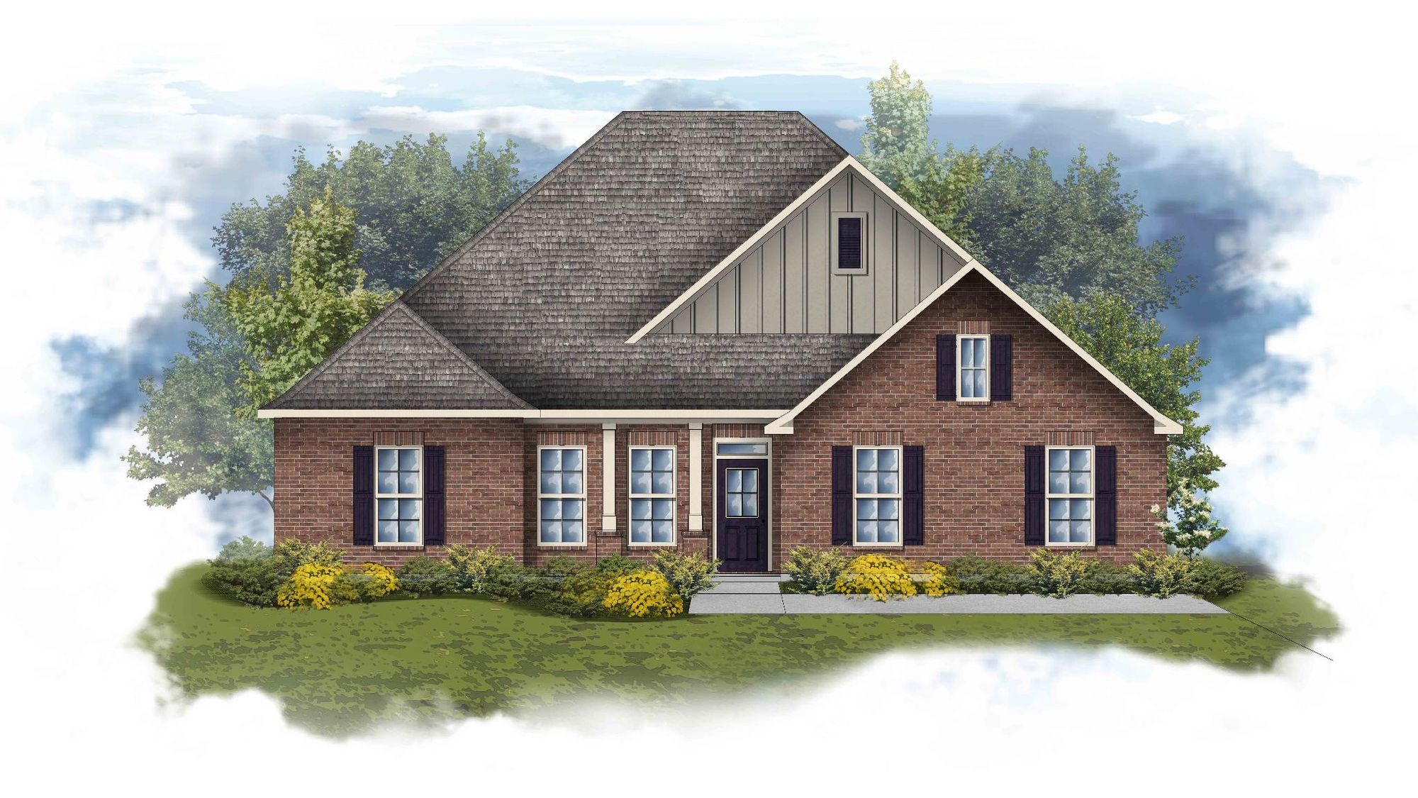 Conway II B Open Floorplan Elevation Image - DSLD Homes