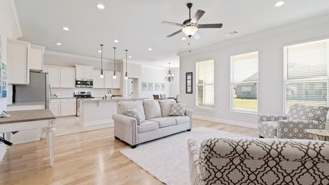 Model Home Living Room - DSLD Homes in Lake Charles - The Cove at Morganfield
