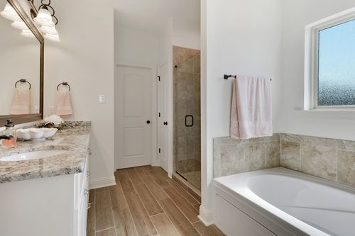 The Reserve at Conway- Model Home Master Bathroom - DSLD Homes - Klein II B - Gonzales, LA