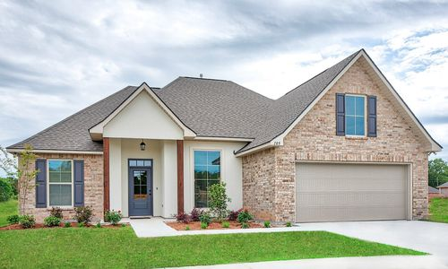 Lucien Field Estates - Model Home Exterior - DSLD Homes - Rose IV B - Shreveport, LA