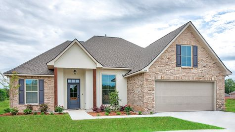 Front of Model Home - Lucien  Field Estates - DSLD Homes Shreveport