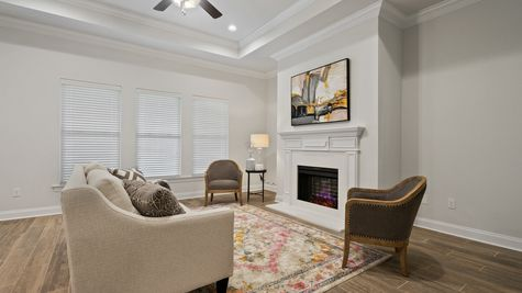 Living Room with Decor - Talla Pointe - DSLD Homes Ocean Springs
