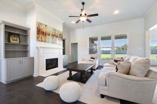 Paige Place - Model Home Living Room - DSLD Homes - Renoir III D - Broussard, LA