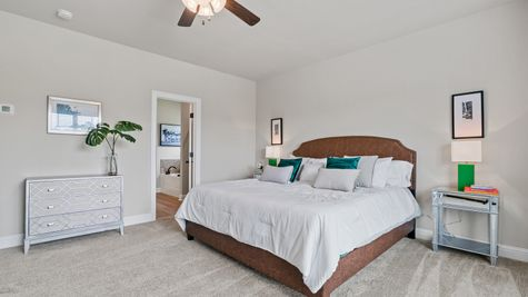 The Estates at Silver Hill Community - DSLD Homes - Sansa II A - Model Home Master Bedroom