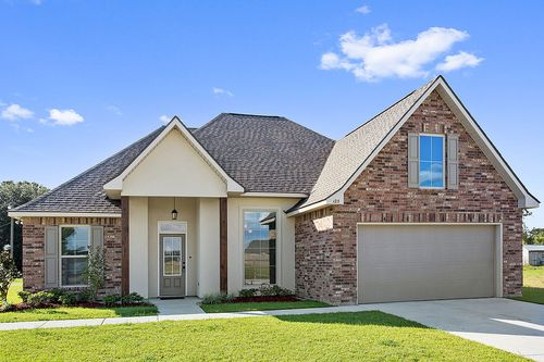 Highland Oaks - Model Home Exterior - DSLD Homes - Rose IV B - Gray, LA