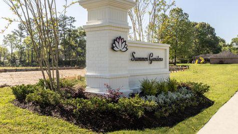 Summer Gardens Entrance Sign - DSLD Homes-Baton Rouge, LA