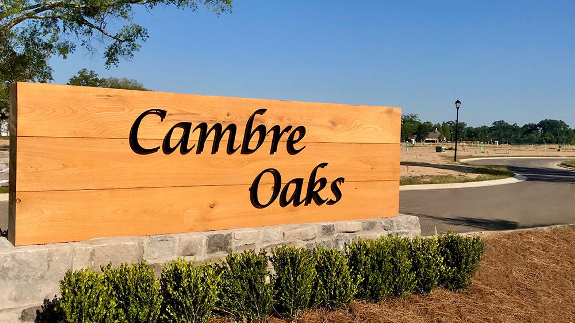 DSLD Homes- Gonzales, LA- Cambre Oaks Community Entrance
