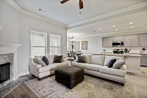Cypresswood Village Model Home Living Room - DSLD Homes - Orange, TX