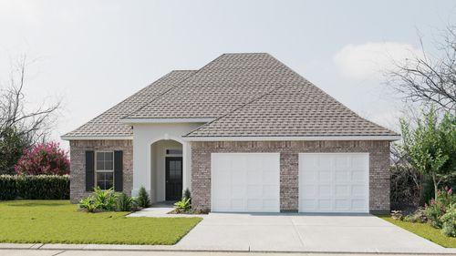 Nimes IV A - Front Elevation - DSLD Homes