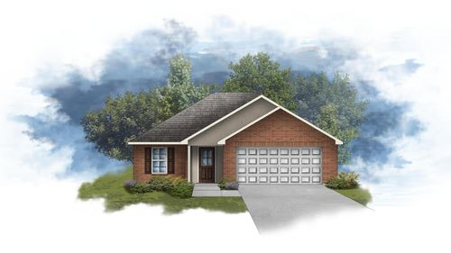 Dudley III A - Front Elevation - DSLD Homes