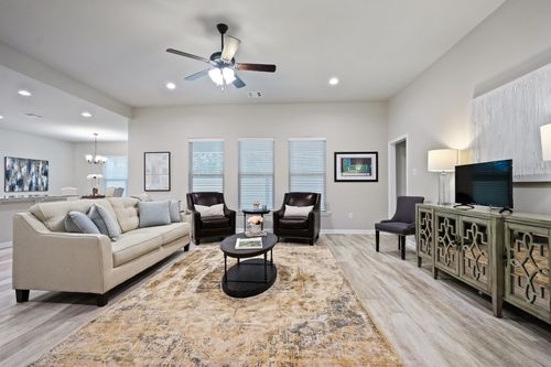 Simpson Farms Model Home Living Room Cary IV H Floor Plan - DSLD Homes - Covington, LA