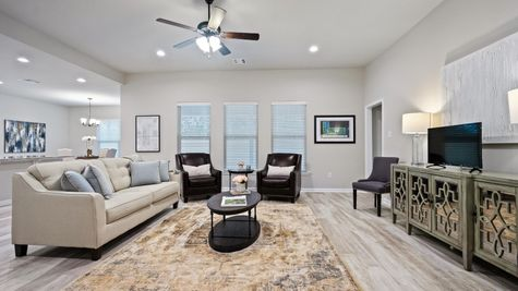 Simpson Farms - DSLD Homes - Model Home Living Room - Covington, LA