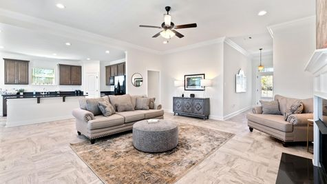 Porter's Cove Model Home Living Room - DSLD Homes - Lake Charles, LA
