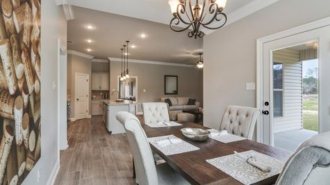 Dining Room in Model Home - DSLD Homes - Audubon Trail in Covington