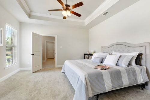 Castine Pointe - Model Home Master Bedroom - DSLD Homes - Rose IV A - Long Beach, MS