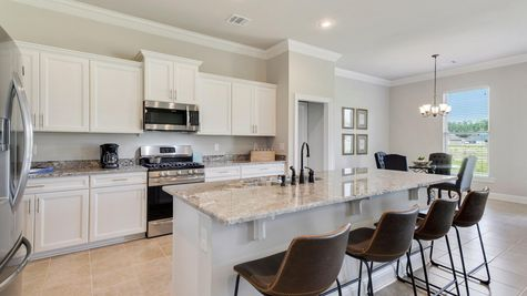 White Kitchen with Stainless Steel Appliances - Nickens Lake- DSLD Homes Denham Springs