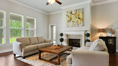 Living Room with Decor - Savoy Place - DSLD Homes Gulfport