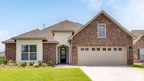 Front of Home - Moss Bluff Community - DSLD Homes - Lafayette