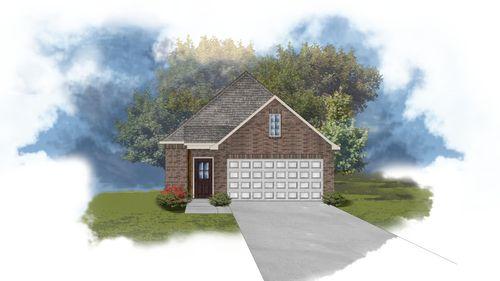 Langley II C - Front Elevation - DSLD Homes