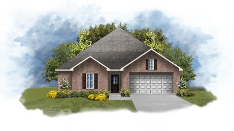 Hillsborough IV A - Front Elevation - DSLD Homes