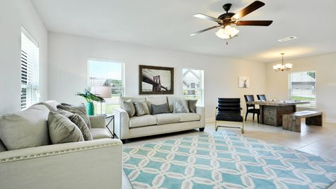 Living Room with Decor - Belvedere Place - DSLD Homes Gulfport